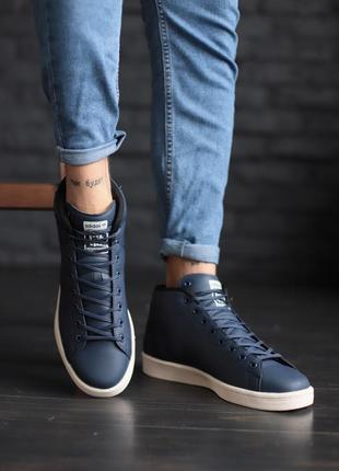 Мужские кроссовки adidas, синие адидас демисезонные