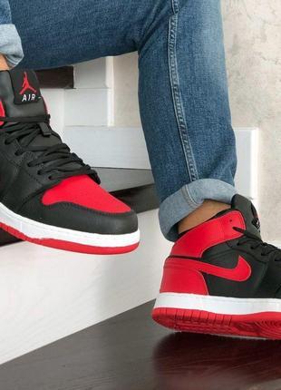 Nike Air Jordan 1 Retro (красно/черные) ЗИМА