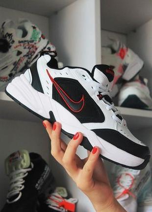 Мужские кроссовки Nike Air Monarch IV Black White, белые с чер...