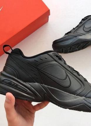 Кожаные кроссовки Nike Air Monarch Black. ОРИГИНАЛ! ТОП КАЧЕСТВО!