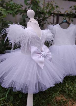 Платье белое для девочки на любое торжество