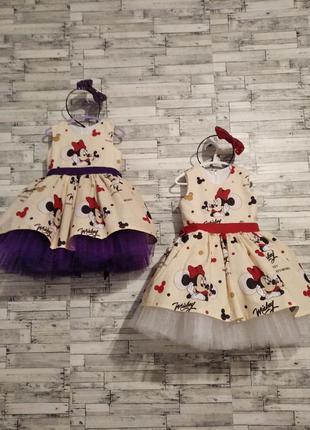 Платье минни  маус нарядные праздничные