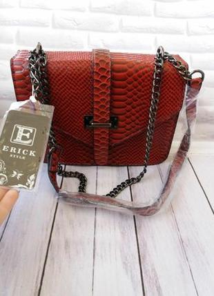 Женский кожаный клатч из экокожи жіночий клатч жіноча сумка же...