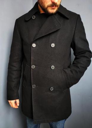 Двубортное шерстяное пальто от бренда return