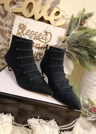 Полусапожки замшевые ботинки ботильоны nine west