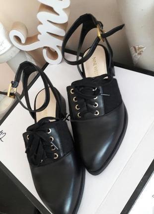 Туфли натуральная кожа   nine west
