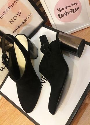 Замшевые  классические туфли nine west