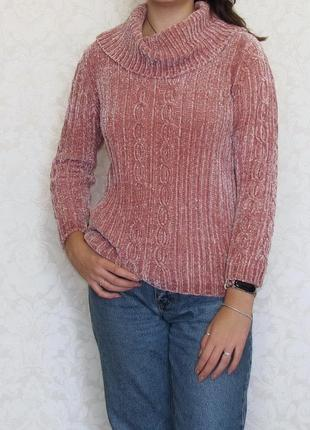 Актуальный свитер country rose, синель, плюш, велюр