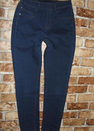 джинсы джеггинсы 13 лет девочке синие стрейч