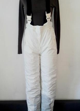 Женский зимний полукомбинезон, женские зимние штаны белого цвета