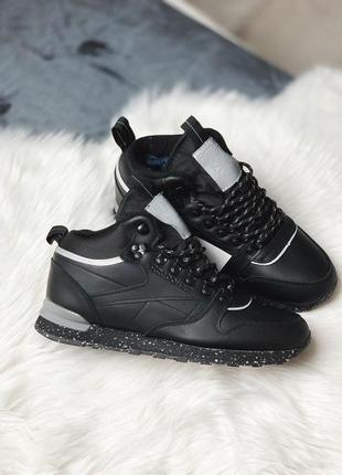 Шикарные мужские зимние кроссовки reebok classic leather mid s...