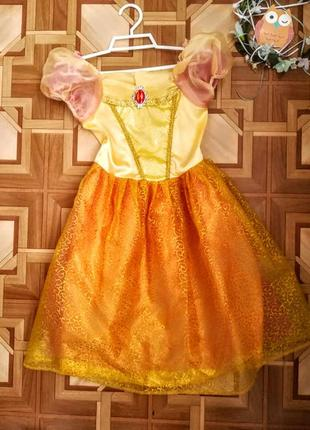 Платье принцессы бэлль 5-7 лет