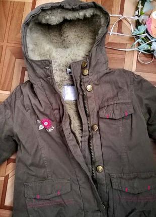 Куртка, парка, пальто на малышку 2-3 года