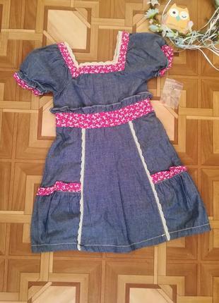 Котоновое платье 3-4 года