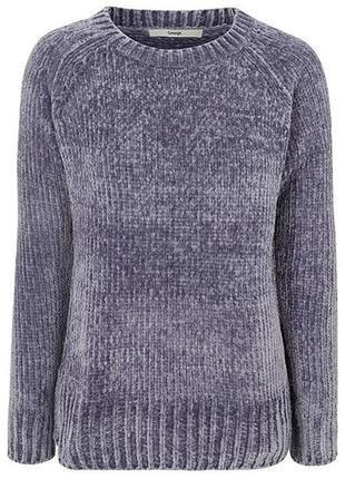 Теплый плюшевый свитер, велюровая нить