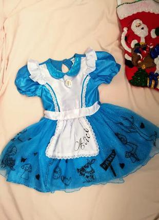 🎄сказочное платье алисы в стране чудес  🎄3-4 года