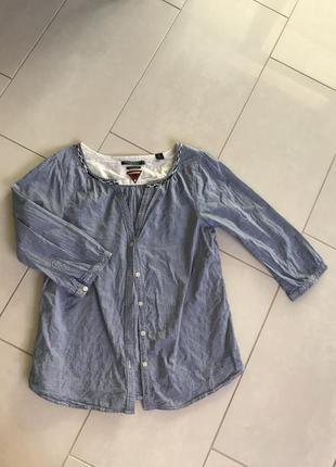 Блуза хлопковая стильная модная maison scotch размер 3 или m-l