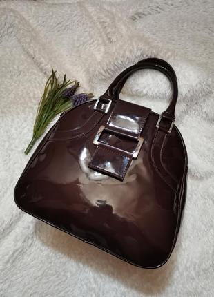 Сумка сумочка коричневый лак ravel