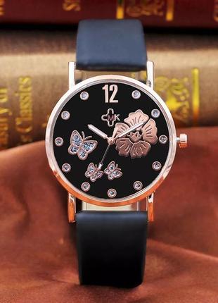 Модные женские черные часы