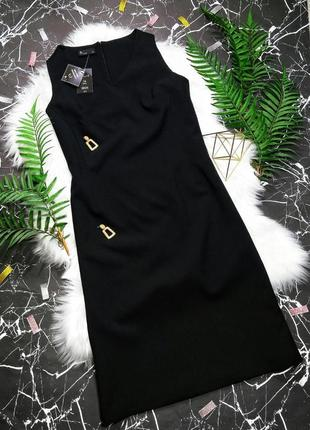 Новое брендовое строгое офисное деловое платье футляр из костю...