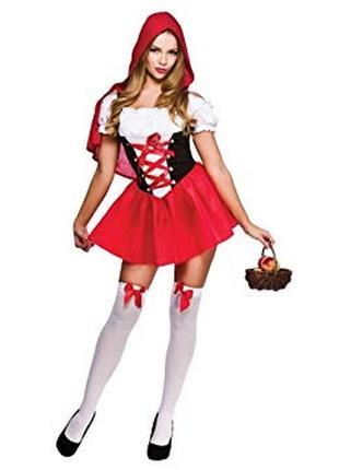 Костюм платье красная шапочка wicked costumes xs uk 6-8 р.40-42
