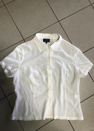 Блуза шёлковая фирменная claudia strater размер xl