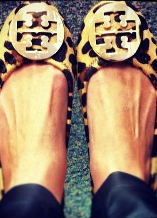 Туфли балетки кожаные фирменные tory burch размер 38