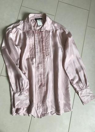Блуза шёлковая фирменная дорогой бренд max mara размер l