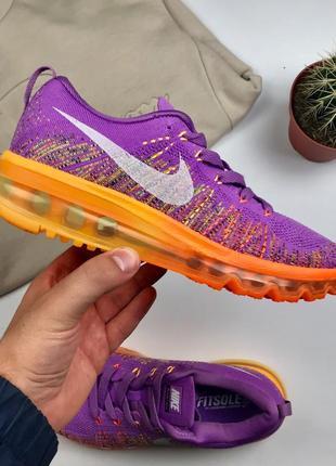 "Кроссовки Nike Air Flyknit Max 2014 ""Atomic purple/Total orange"""