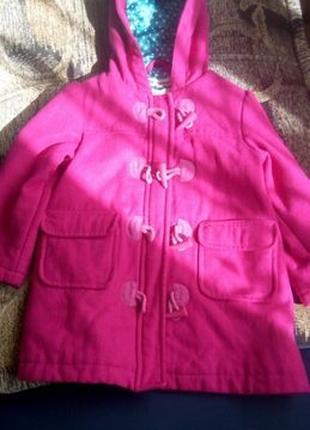 Красивое демисезонное пальто Marks&Spencer 98 см(2-3 года)