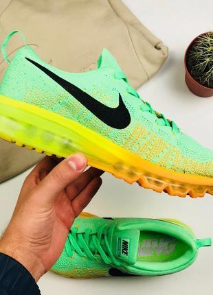 "Кроссовки Nike Air Flyknit Max 2014 ""Orange/Green"""