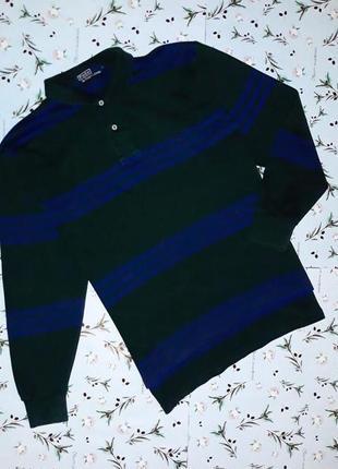 🎁1+1=3 стильный мужской свободный свитер поло в полоску ralph ...