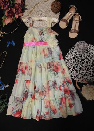 9лет.шикарное шифоновое платье monsoon