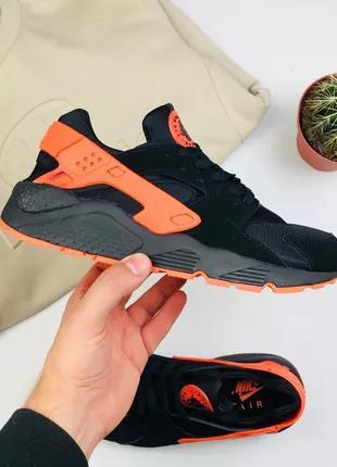 "Кроссовки Nike Air Huarache ""Black/Orange"""