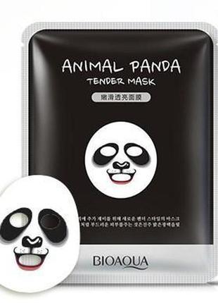 Смягчающая тканевая маска для лица с принтом панда bioaqua гиа...