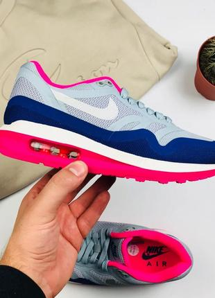"Кроссовки Nike Air Max 1 Lunarlon ""Pink/Gray"""