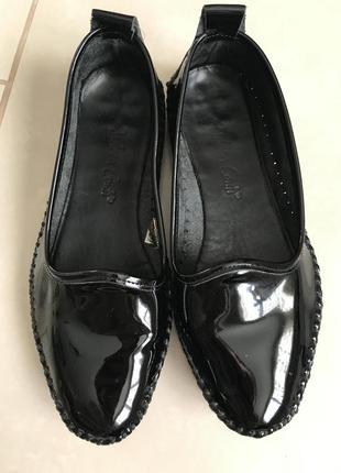 Туфли кожаные балетки кожаные фирменные стильные дорогой бренд...