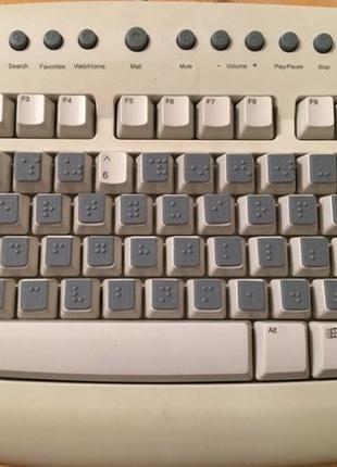 Накладки на клавиатуру для слепых, инвалидов