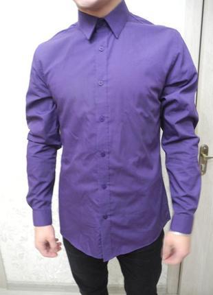 Фиолетовая рубашка jack & jones made in india