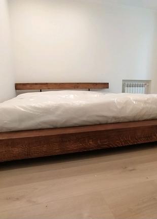 Кровать из бруса дуба двухспальная кровать из натурального дерева