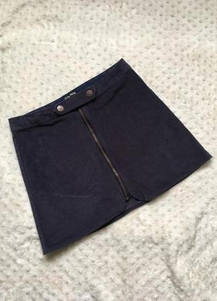 Стильная юбка, юбка под замш, юбка zara, юбка трапеция