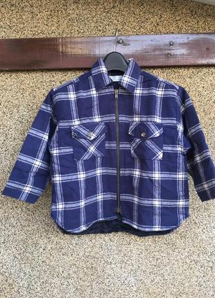 Куртка рубашка, рубашка на синтепоне, тёплая рубашка, свободна...
