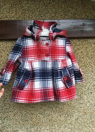 Стильное кашемировое пальто, пальто для малышки,пальто в клетк...