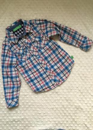 Рубашка на мальчика 4-5 лет, рубашка в клетку