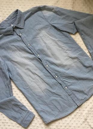 Рубашка под джинс, стильная рубашка, рубашка m&s