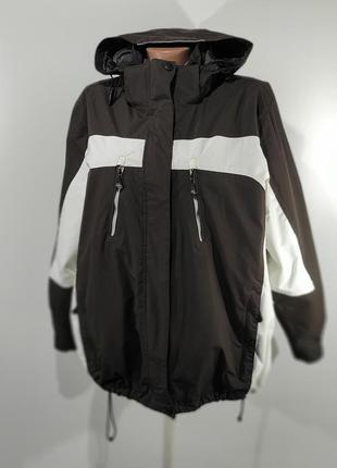 Темно - коричневая спортивная куртка на флисе размер l