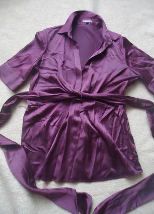 Шелковая блуза винного цвета