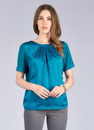 Шелковая фирменная блуза футболка 100% silk