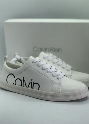 Белые кеды бренд calvin klein® оригинал, мокасины, спортивные ...