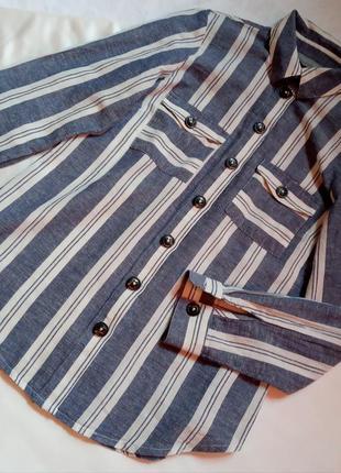 Льняная блуза,сорочка,рубашка,школьная,офисная,деловой стиль
